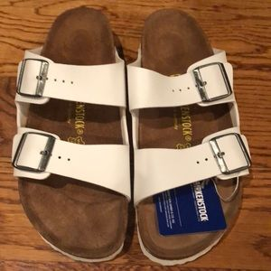 Birkenstock Arizona white 11 narrow